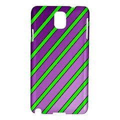 Purple and green lines Samsung Galaxy Note 3 N9005 Hardshell Case