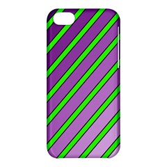 Purple and green lines Apple iPhone 5C Hardshell Case