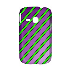 Purple and green lines Samsung Galaxy S6310 Hardshell Case