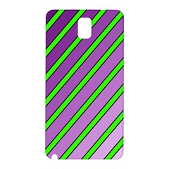 Purple and green lines Samsung Galaxy Note 3 N9005 Hardshell Back Case