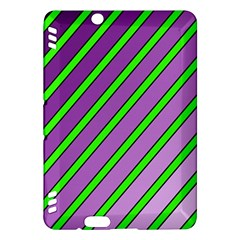 Purple and green lines Kindle Fire HDX Hardshell Case