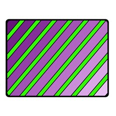 Purple and green lines Double Sided Fleece Blanket (Small)