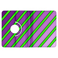 Purple and green lines Kindle Fire HDX Flip 360 Case