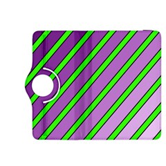 Purple and green lines Kindle Fire HDX 8.9  Flip 360 Case