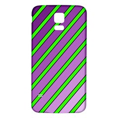 Purple and green lines Samsung Galaxy S5 Back Case (White)