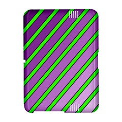 Purple and green lines Amazon Kindle Fire (2012) Hardshell Case