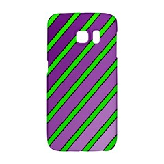 Purple and green lines Galaxy S6 Edge