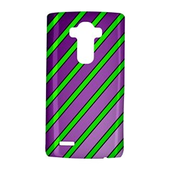 Purple and green lines LG G4 Hardshell Case