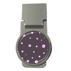 Pink bubbles Money Clips (Round)
