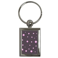 Pink bubbles Key Chains (Rectangle)