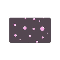 Pink bubbles Magnet (Name Card)