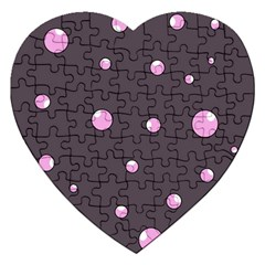 Pink bubbles Jigsaw Puzzle (Heart)