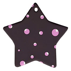 Pink bubbles Star Ornament (Two Sides)