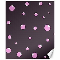 Pink bubbles Canvas 8  x 10