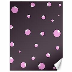 Pink bubbles Canvas 36  x 48