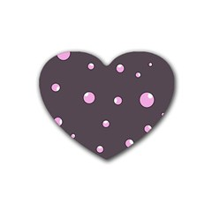 Pink bubbles Heart Coaster (4 pack)