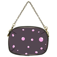 Pink bubbles Chain Purses (Two Sides)