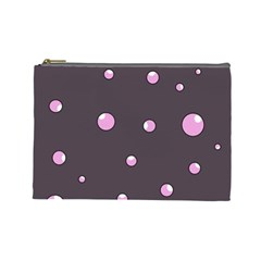 Pink bubbles Cosmetic Bag (Large)