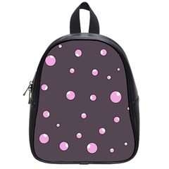 Pink bubbles School Bags (Small)