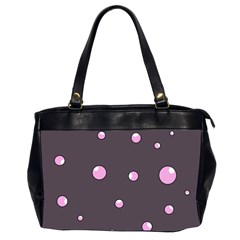 Pink bubbles Office Handbags (2 Sides)