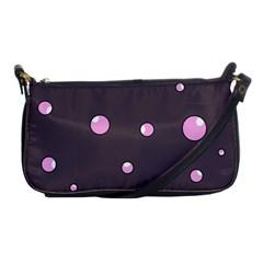 Pink bubbles Shoulder Clutch Bags
