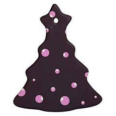 Pink bubbles Christmas Tree Ornament (2 Sides)