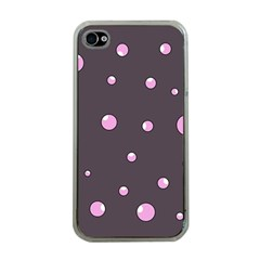 Pink bubbles Apple iPhone 4 Case (Clear)