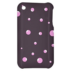 Pink bubbles Apple iPhone 3G/3GS Hardshell Case