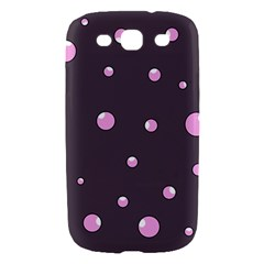 Pink bubbles Samsung Galaxy S III Hardshell Case