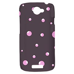 Pink bubbles HTC One S Hardshell Case