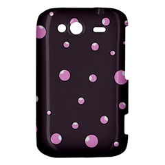 Pink bubbles HTC Wildfire S A510e Hardshell Case