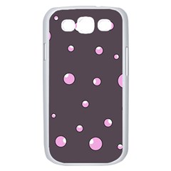 Pink bubbles Samsung Galaxy S III Case (White)