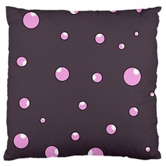 Pink bubbles Large Cushion Case (One Side)