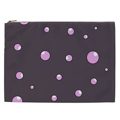 Pink bubbles Cosmetic Bag (XXL)