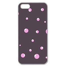 Pink bubbles Apple Seamless iPhone 5 Case (Clear)