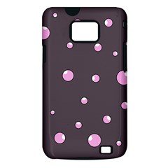 Pink bubbles Samsung Galaxy S II i9100 Hardshell Case (PC+Silicone)
