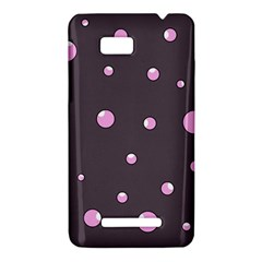 Pink bubbles HTC One SU T528W Hardshell Case