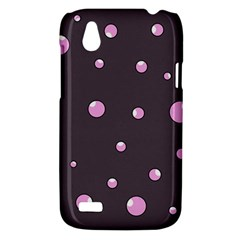 Pink bubbles HTC Desire V (T328W) Hardshell Case