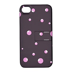 Pink bubbles Apple iPhone 4/4S Hardshell Case with Stand