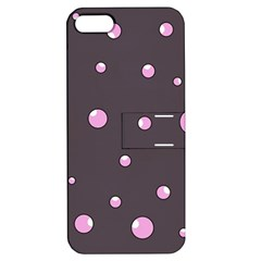Pink bubbles Apple iPhone 5 Hardshell Case with Stand