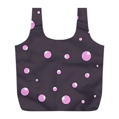 Pink bubbles Full Print Recycle Bags (L)