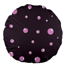 Pink bubbles Large 18  Premium Flano Round Cushions