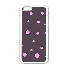 Pink bubbles Apple iPhone 6/6S White Enamel Case