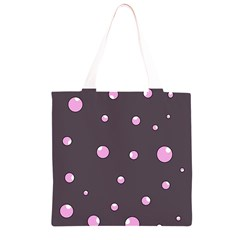 Pink bubbles Grocery Light Tote Bag