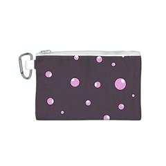 Pink bubbles Canvas Cosmetic Bag (S)
