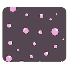 Pink bubbles Double Sided Flano Blanket (Small)