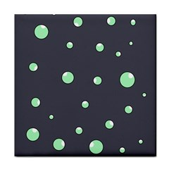 Green bubbles Tile Coasters