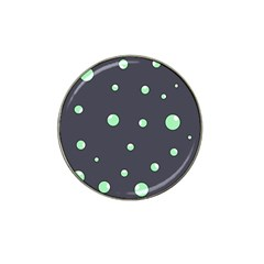 Green bubbles Hat Clip Ball Marker (4 pack)