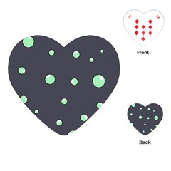 Green bubbles Playing Cards (Heart)