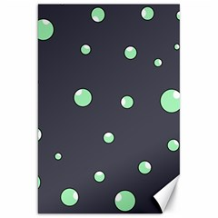 Green bubbles Canvas 20  x 30